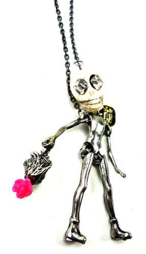 Trendit Handgemachte Killerkette Skelettkette Lady Skull mit Handtasche Osw2