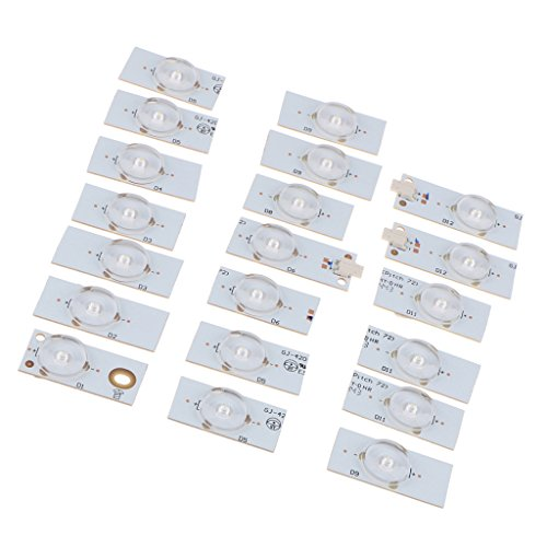 H HILABEE 20Pcs SMD Lamp Beads 6V Speziell Für LED TV Backlight Strip Und TV Repair