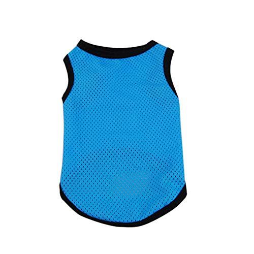 Fliyeong Haustier-Kleidung, Art- und Weisehundekatze-Ineinander greifen-Entwurfs-weiche ärmellose Weste-Sommer-Kostüm-Kleid-Qualität (Entwurf Ärmellos)