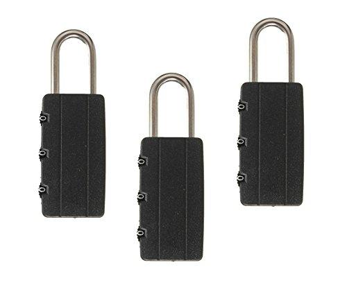 Se-notebook-rucksack (Deet® 3Pack Kombination Vorhängeschlösser für Reisen Koffer/Rucksack/Laptop)