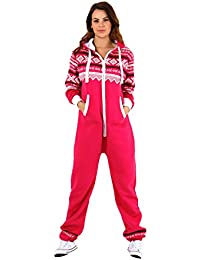bff0cb4335 Parsa Fashions ® Womens Ladies Aztec Print Hooded Zip Up Onesie Jumpsuit  Plus Sizes S-