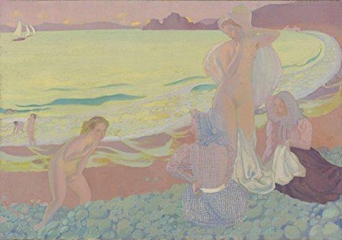 Das Museum Outlet-Maurice Denis-auf der Strand von trestrignel, gespannte Leinwand Galerie verpackt. 50,8x 71,1cm -