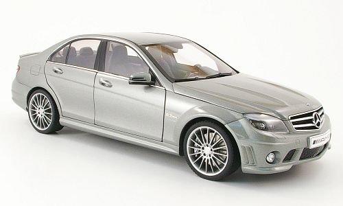 Preisvergleich Produktbild Mercedes C63 AMG, met.-grau, mit Ledersitze, 2007, Modellauto, Fertigmodell, AUTOart 1:18
