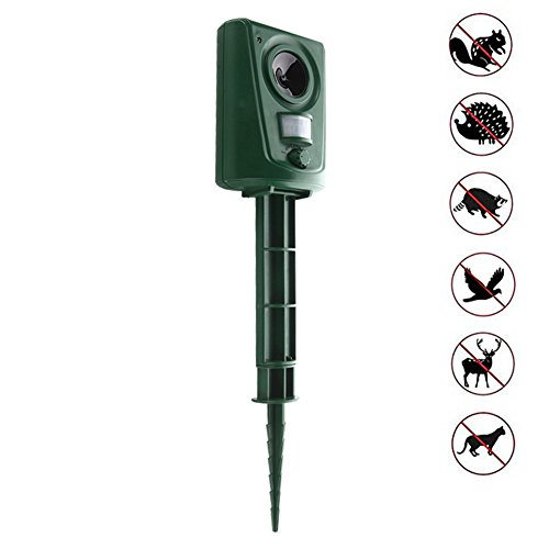 Surenhap Ultrasonic Pest Animal Repeller, Cat Repellent - Protect your Yard, Lawn, Garden, Park, Farm from Dogs, Cats, Squirrels, Rodents (Not Including Batteries)