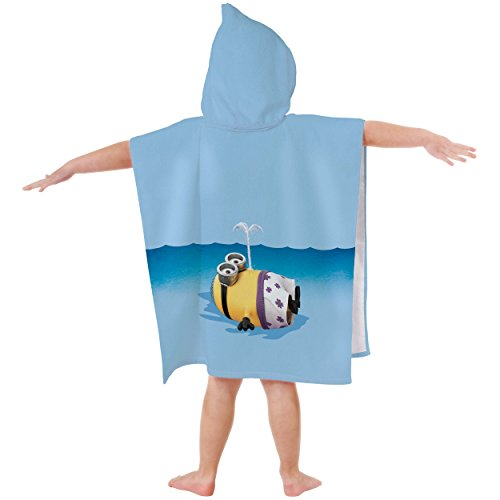 Minions-042438-Badeponcho-Phil-Baumwolle-velours-60-x-120-cm