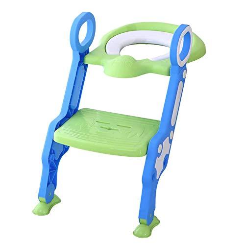 Glenmore scaletta per bambini riduttore scaletta wc pieghevole plastica (verde)