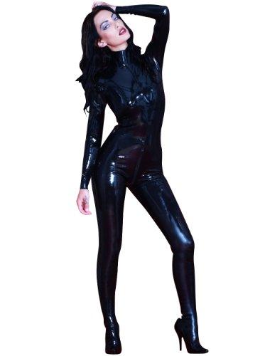 Catsuit mit Füßen (Domina Anzug)
