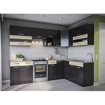 Eldorado möbel winkelküche alina 270x170 wenge l form küchenzeile eck küchenblock