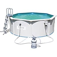 Bestway Hydrium Pool Set 360x120cm  Stahlwand Pool mit Sandfilter + Zubehör