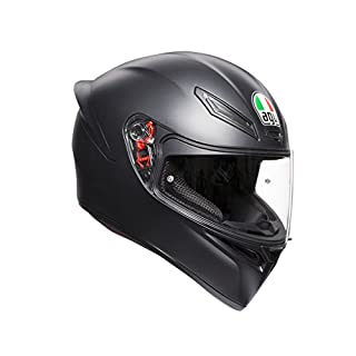 AGV 0281A4I0_003_S K1 E2205 Helm SOLID- MATT BLACK, Schwarz, Größe S
