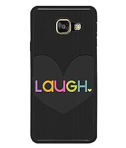 Fuson Designer Back Case Cover for Samsung Galaxy A7 (6) 2016 :: Samsung Galaxy A7 2016 Duos :: Samsung Galaxy A7 2016 A710F A710M A710Fd A7100 A710Y :: Samsung Galaxy A7 A710 2016 Edition (Love heart Girl Valentine Faith Laugh)