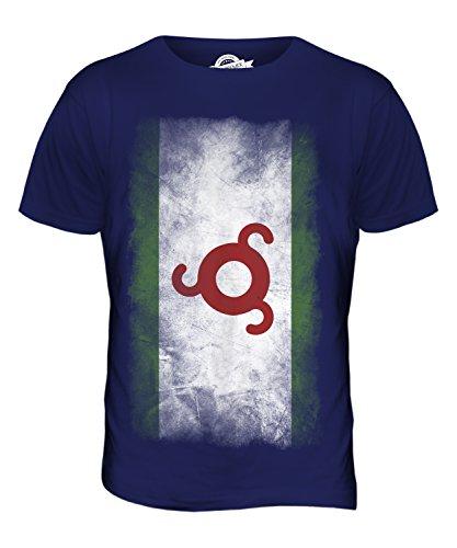 CandyMix Ingushetia Verblichen Flagge Herren T Shirt Navy Blau