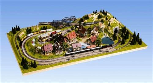 NOCH 84810 - Fertiggelände Traunstein, N, Z, 125 x 69 x 18 cm, bunt (Modelleisenbahn Spur N)