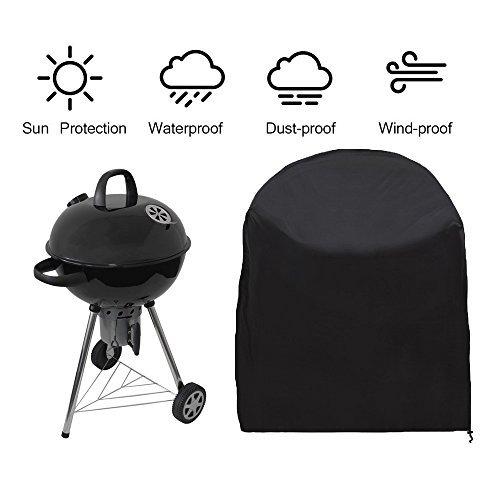 Siminliu Housse de Protection Barbecue ,Barbecue Couverture, capot | Bonne Étui étanche Outdoor, compatible avec barbecue Cover | 77 * 58 cm - Noir