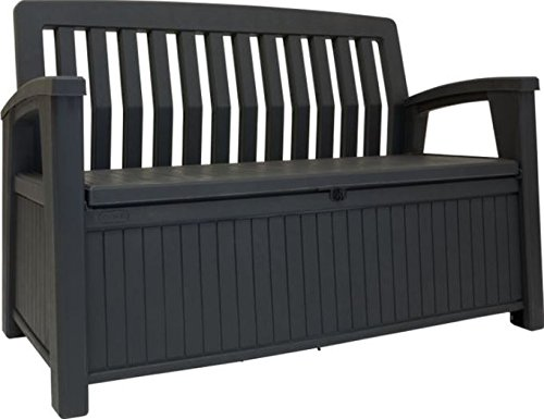 Keter Cassapanca Patio Bench Banca In Resina 227 Litri 132.7X 63.5 X 89.5 Cm Graffite