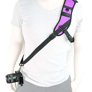 MegaGear seule épaule néoprène Collier ceinture pour appareil photo SLR DSLR Violet
