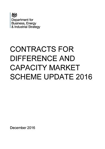 Contracts for difference and capacity market scheme update 2016