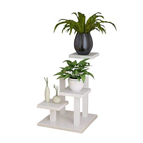 Msf stand di fiori cremagliera fleshy per piante carnose semplice e creativa piccola scrivania da fiori con supporto per fiori (colore: nero) (colore : bianca)