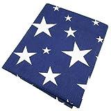 50* 160cm blau Sterne Baumwolle Stoff für Baby Quilts