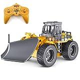 1/18 RC Truck Ferngesteuerter Schneepflug 6 Kanäle 2,4 G Legierung Schneefeger Fahrzeug 4 WD Traktor Spielzeug mit Lichtern für Kinder