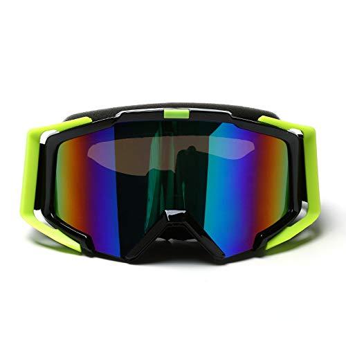 Easy Go Shopping Frauen & Jugend - 100% UV-Schutz Radfahren Outdoor-Brille Skibrille - Überbrille Ski- / Snowboardbrille Für Männer, Sonnenbrillen und Flacher Spiegel (Farbe : Black Green)