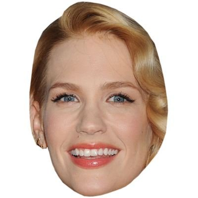 Celebrity Cutouts January Jones Maske aus Karton