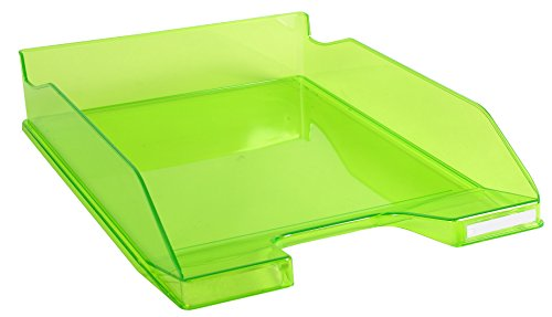 Exacompta-Confezione da 6vaschette portacorrispondenza A4trasparente + Lucido Verde Mela