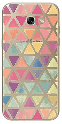 Samsung Galaxy A5 2017 (A520) NOVAGO Coque Gel souple transparente solide avec impression fantaisie de qualité - Triangles colorés