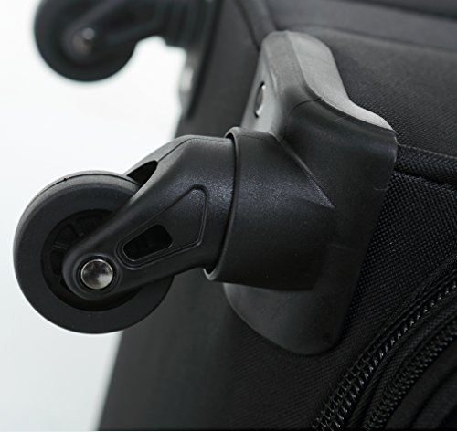 41MFOAM9c8L - Beibye 4ruedas maleta de viaje 8005plástico maletín equipaje Maleta Juego de L XL de m en 5colores, negro