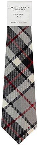 Thompson Grau Tartan (Modern) Weiche Schurwolle, Mens Tie - Black Watch Plaid Wolle