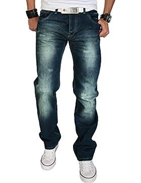 Rock Creek Herren Designer Jeans Verwaschen Used Vintage Look RC-2063