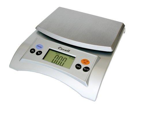 Escali A115S Aqua Digital Scale Liquid Measuring Scale 11 Lb / 5 Kg, Silver Grey by Escali Digital Liquid Scale
