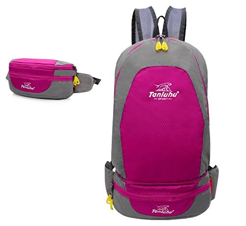Borsa all'aperto alpinismo piegato tasche di borsa a tracolla unisex coppia , orange Pink