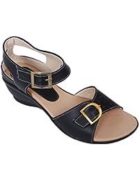 Footshez New Arrival Best Hot Selling Women's Black Fashion Sandals Low Price Sale