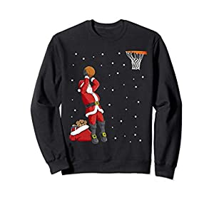 Divertido Santa Claus Basketball Regalo