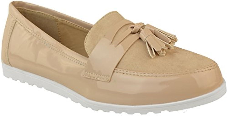 Fashion Thirsty heelberry para Dama Color Negro Mocasines Trabajo Formal Zapatos de Colegio Zapatillas Planas...