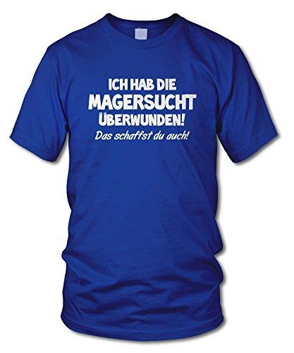 shirtloge - ICH HAB DIE MAGERSUCHT ÜBERWUNDEN - DU SCHAFFST DAS AUCH! - KULT - Fun T-Shirt - in verschiedenen Farben - Größe S - XXL Royal