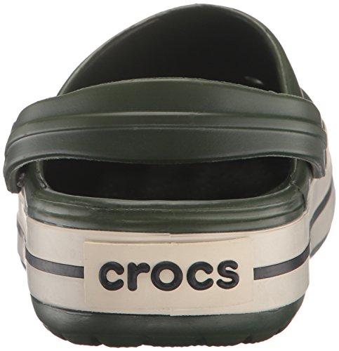 crocs Unisex-Erwachsene Crocband Clogs Grün (Forest/Stucco)