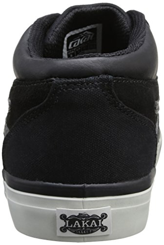 Lakai Griffin Mid, Chaussures de skateboard homme Noir (Black Suede All Weather)
