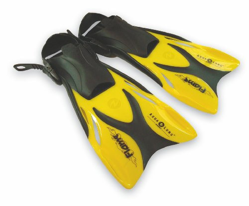 U.S. Divers Flame Kinder Schwimmflosse Flosse gelb (33 - 36) verstellbar