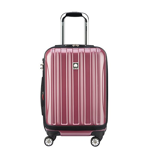 Delsey Luggage Helium Aero International Carry on Expandable Spinner Trolley, Peony