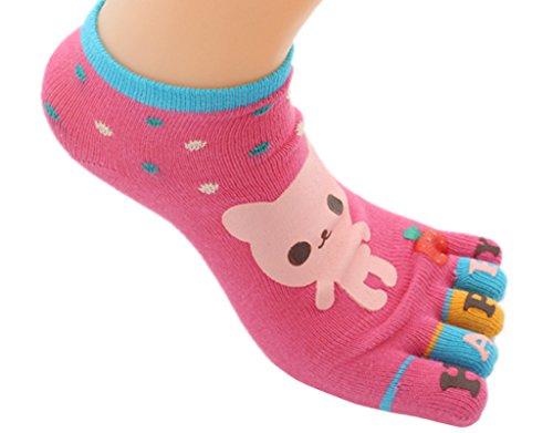 BONAMART 4 Paar Damen Frauen 5 Zehen Socken Zehensocken Toe Socks  35-38