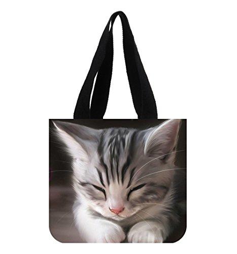 Digital Art Katzen Kätzchen Canvas Tote Bag (Bag Tote Kätzchen)