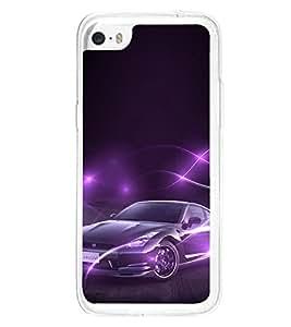 ifasho Designer Phone Back Case Cover Apple iPhone 5c ( Purple Blue Diamond Colorful Pattern Design )