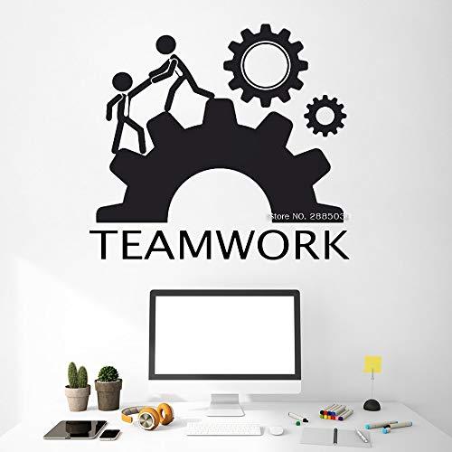 yaoxingfu Inspirational Teamwork Decal Adesivi murali Ufficio Successo Aziendale Idea di Lavoro Murales Decorazioni per Ufficio Adesivo in Vinile Rimovibile LC Bianco L 120 cm x 110 cm