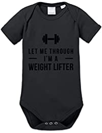 Let Me Through I'm A Weight Lifter Baby Strampler by Shirtcity
