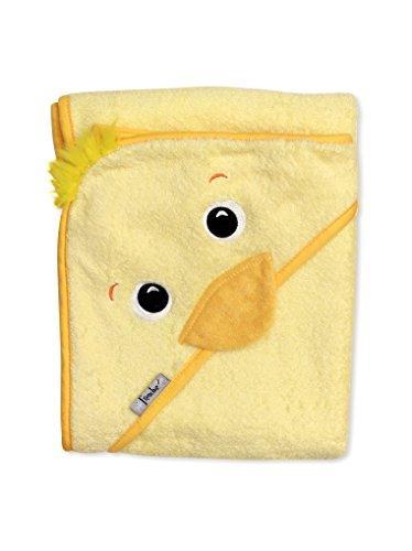 Extra large absorbant serviette à capuche jaune.