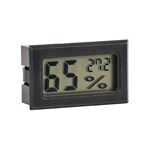 Volenx termometro igrometro Digitale Indoor Outdoor Metri Humidor igrometro di umidità di umidità Gauge, Mini umidificatore per Auto, casa e Ufficio, batterie Incluse (Nero)