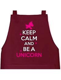 Keep Calm And Be A Unicorn, Einhorn Grillen Barbecue Grill Schürze Kochschürze Latzschürze