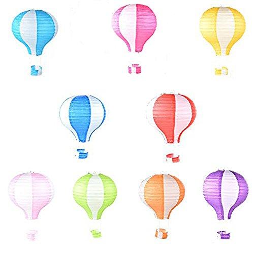 Tenchif 12 Zoll Heißluft Ballon Papier Laterne für Hochzeits Geburtstags Weihnachtsfest Dekoration,Packung von 3